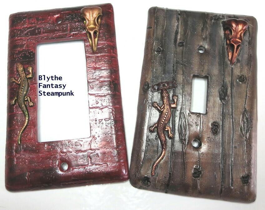 Blythe Spirit Creations Steampunk Bird Skull And Lizard